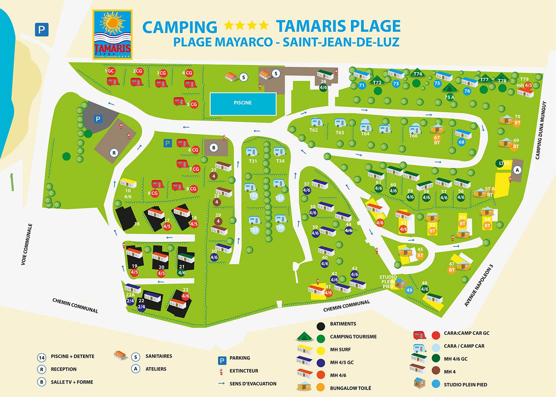 le camping camping tamaris plage saint jean de luz pays basque. Black Bedroom Furniture Sets. Home Design Ideas